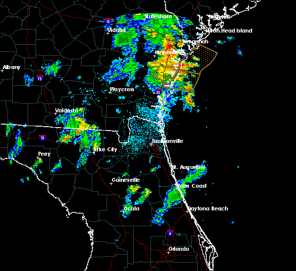 Radar Image for Severe Thunderstorms near Darien, GA at 7/16/2018 7:58 PM EDT