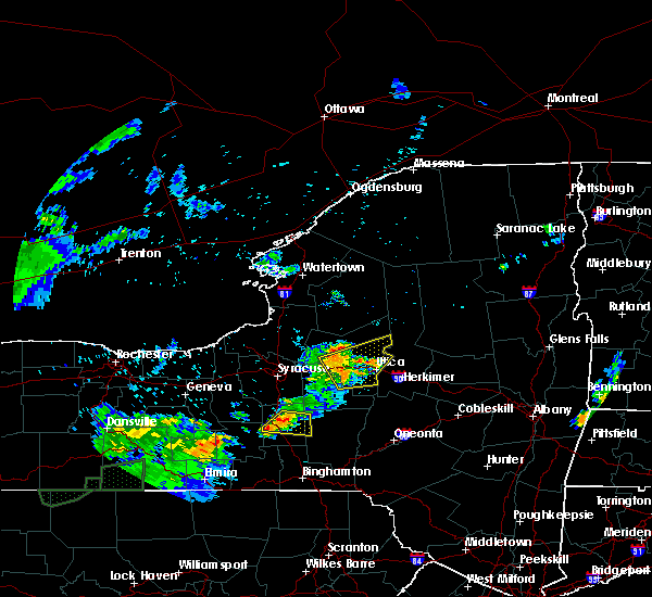 Radar Image for Severe Thunderstorms near Rome, NY at 7/16/2018 8:26 PM EDT
