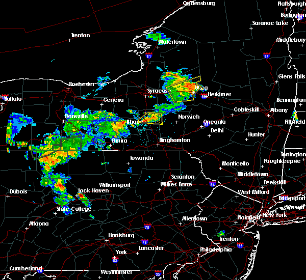 Radar Image for Severe Thunderstorms near Cortland West, NY at 7/16/2018 8:44 PM EDT