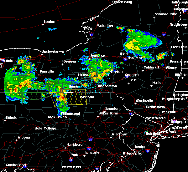 Radar Image for Severe Thunderstorms near Alba, PA at 7/16/2018 10:26 PM EDT