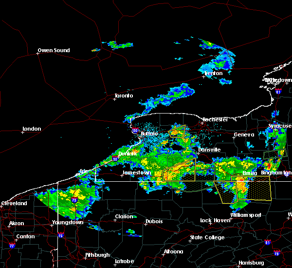 Radar Image for Severe Thunderstorms near Scio, NY at 7/16/2018 10:39 PM EDT