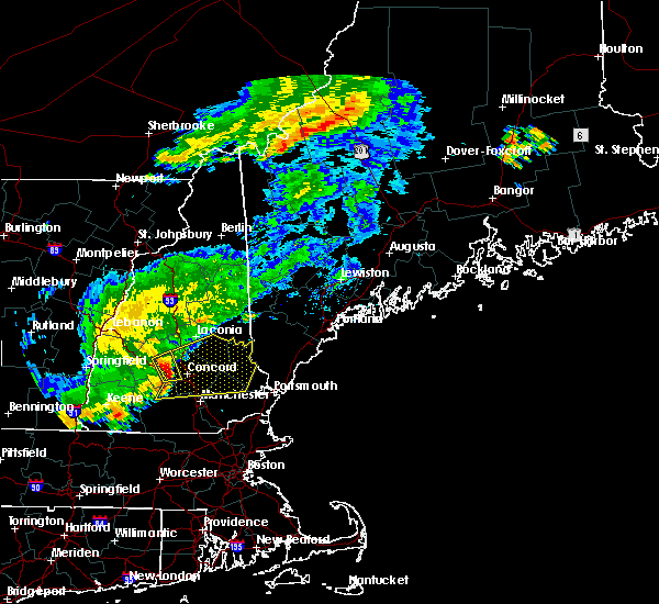 Radar Image for Severe Thunderstorms near Milton, NH at 7/17/2018 10:57 AM EDT