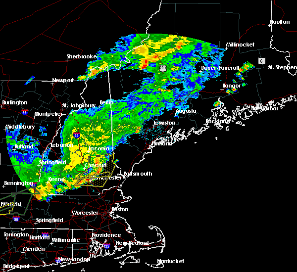 Radar Image for Severe Thunderstorms near Milton, NH at 7/17/2018 11:37 AM EDT