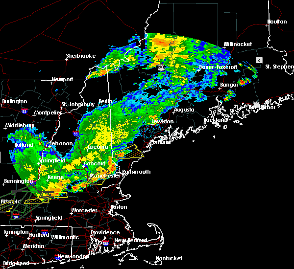 Radar Image for Severe Thunderstorms near West Kennebunk, ME at 7/17/2018 12:10 PM EDT