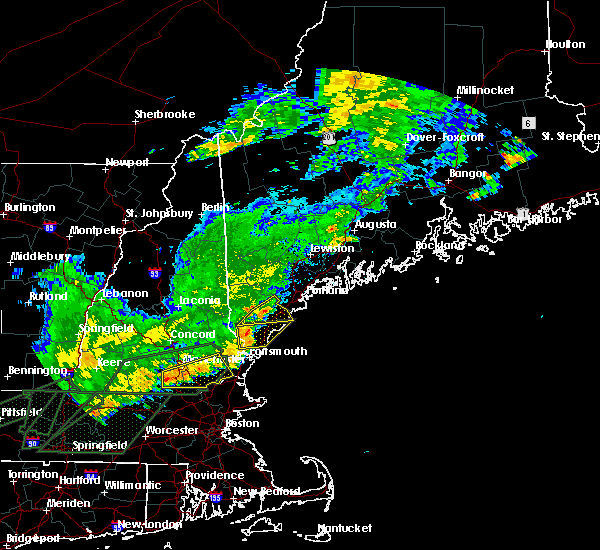 Radar Image for Severe Thunderstorms near West Kennebunk, ME at 7/17/2018 12:32 PM EDT