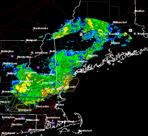 Radar Image for Severe Thunderstorms near West Kennebunk, ME at 7/17/2018 12:50 PM EDT