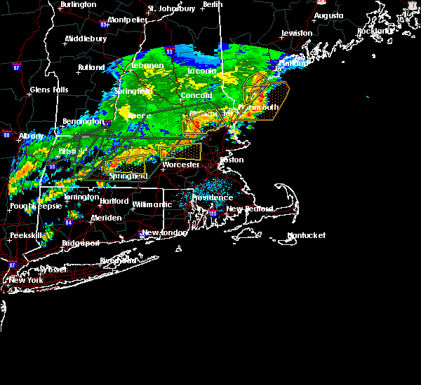 Radar Image for Severe Thunderstorms near Lowell, MA at 7/17/2018 1:00 PM EDT