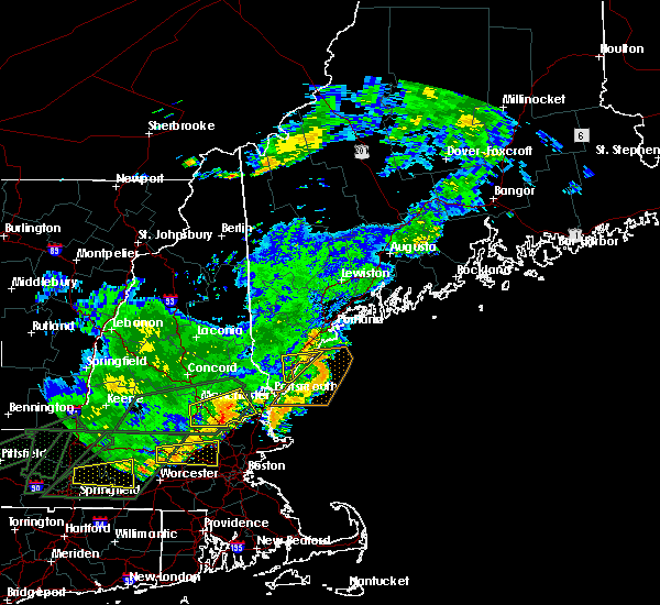 Radar Image for Severe Thunderstorms near West Kennebunk, ME at 7/17/2018 1:11 PM EDT