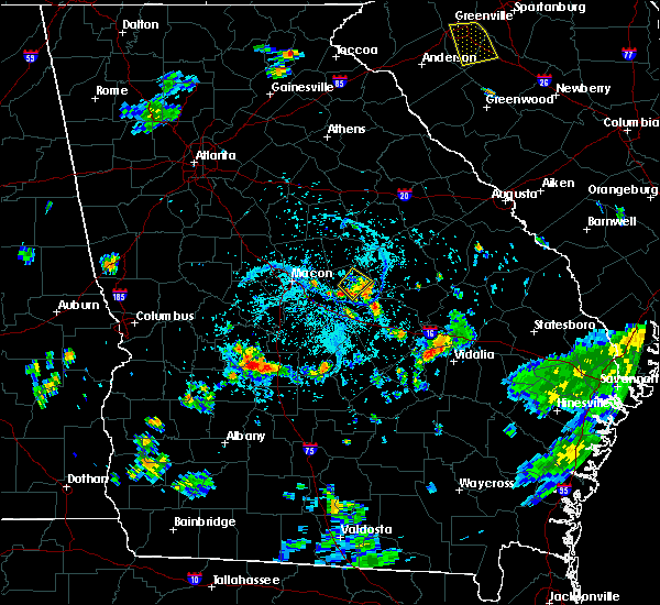 Radar Image for Severe Thunderstorms near Vienna, GA at 7/17/2018 6:28 PM EDT
