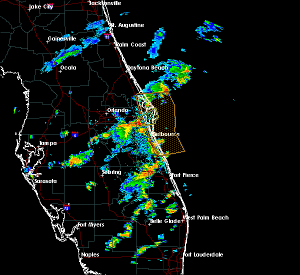 Radar Image for Severe Thunderstorms near Cocoa West, FL at 7/17/2018 6:33 PM EDT