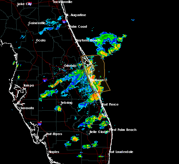 Radar Image for Severe Thunderstorms near Merritt Island, FL at 7/17/2018 7:05 PM EDT
