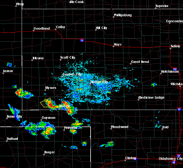Radar Image for Severe Thunderstorms near Moscow, KS at 7/17/2018 6:29 PM CDT