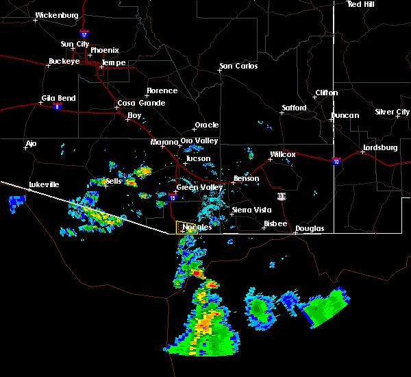 Radar Image for Severe Thunderstorms near Beyerville, AZ at 7/17/2018 7:02 PM MST