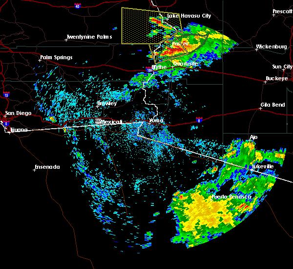 Radar Image for Severe Thunderstorms near Bouse, AZ at 7/18/2018 12:42 AM MST