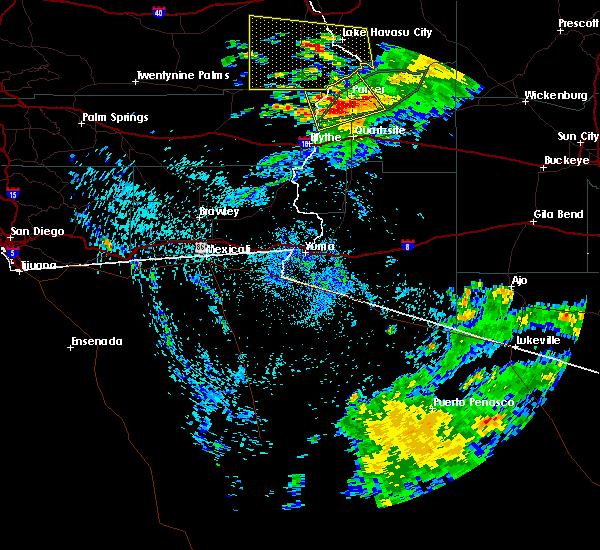 Radar Image for Severe Thunderstorms near Bouse, AZ at 7/18/2018 12:54 AM MST