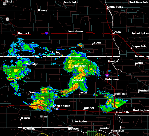 Radar Image for Severe Thunderstorms near St. Lawrence, SD at 7/18/2018 6:58 PM CDT