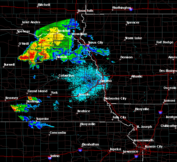 Radar Image for Severe Thunderstorms near Elgin, NE at 7/18/2018 11:35 PM CDT