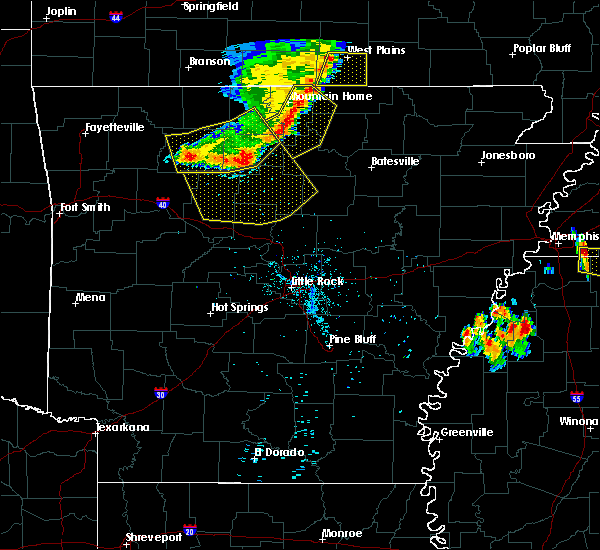 Radar Image for Severe Thunderstorms near Dennard, AR at 7/19/2018 8:33 PM CDT