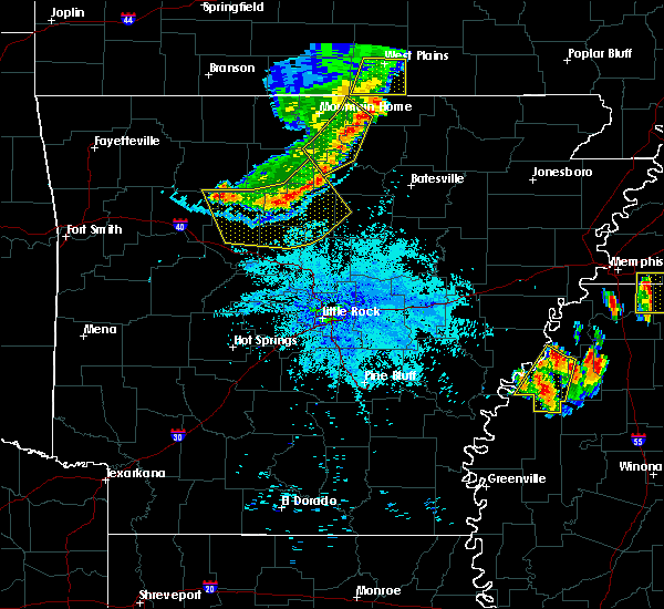 Radar Image for Severe Thunderstorms near Salem, AR at 7/19/2018 8:52 PM CDT