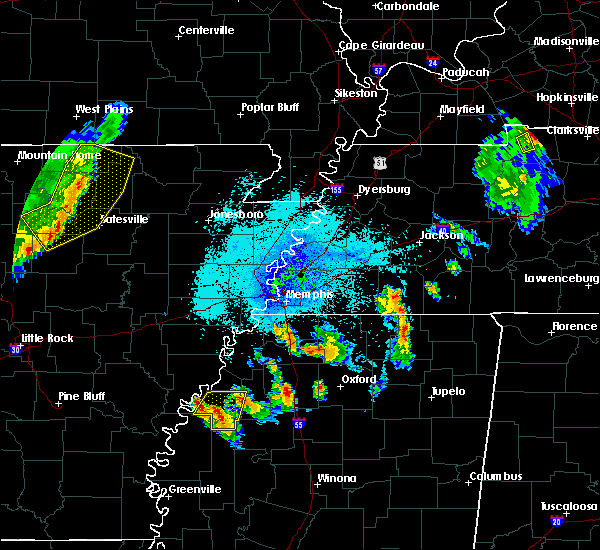 Radar Image for Severe Thunderstorms near Clarksdale, MS at 7/19/2018 9:18 PM CDT