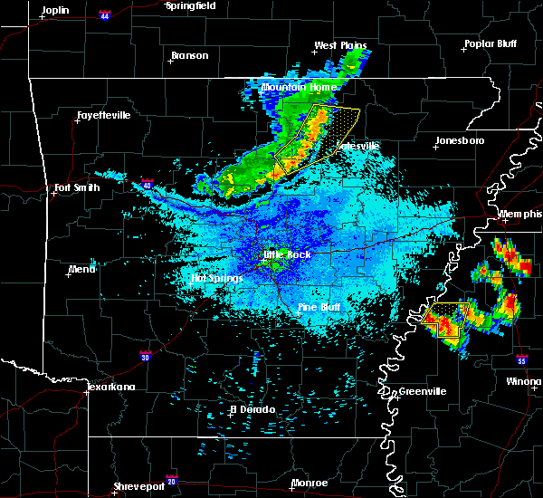 Radar Image for Severe Thunderstorms near Mount Pleasant, AR at 7/19/2018 9:22 PM CDT