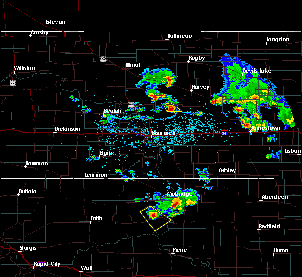 Radar Image for Severe Thunderstorms near McClusky, ND at 7/19/2018 9:40 PM CDT