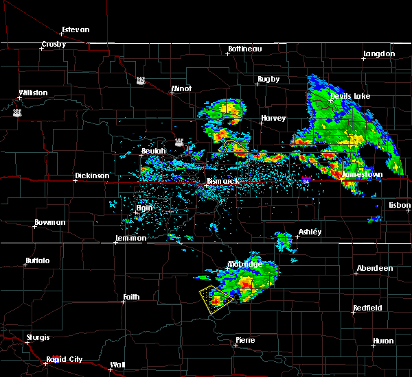 Radar Image for Severe Thunderstorms near McClusky, ND at 7/19/2018 9:56 PM CDT