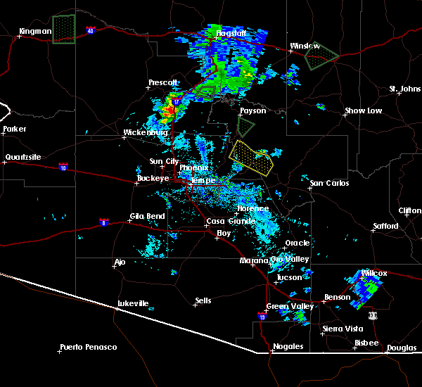 Radar Image for Severe Thunderstorms near Rock House, AZ at 7/19/2018 8:42 PM MST