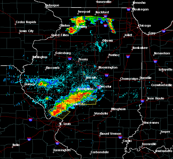 Radar Image for Severe Thunderstorms near Taylorville, IL at 7/19/2018 10:49 PM CDT