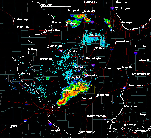 Radar Image for Severe Thunderstorms near Pana, IL at 7/19/2018 11:28 PM CDT