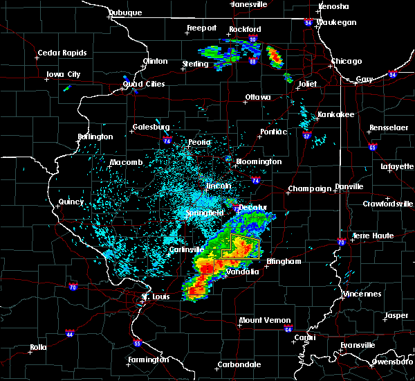 Radar Image for Severe Thunderstorms near Tower Hill, IL at 7/19/2018 11:55 PM CDT