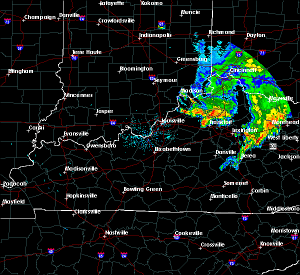 Radar Image for Severe Thunderstorms near Monterey, KY at 7/20/2018 9:03 AM EDT