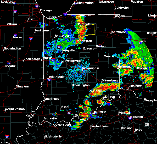 Radar Image for Severe Thunderstorms near Seymour, IN at 7/20/2018 2:08 PM EDT