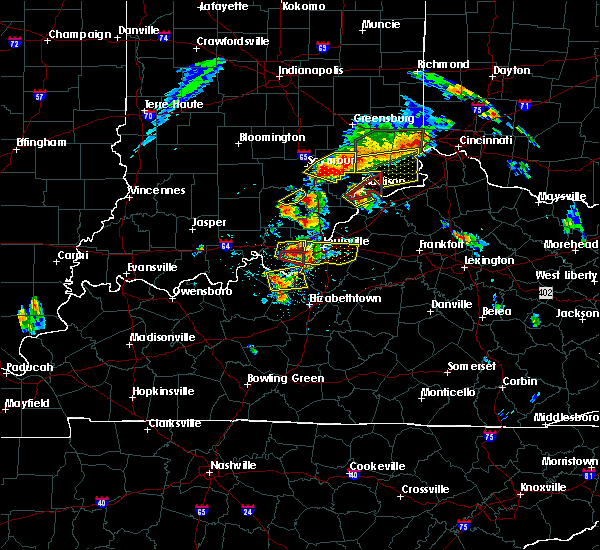 Radar Image for Severe Thunderstorms near Ekron, KY at 7/20/2018 2:25 PM EDT