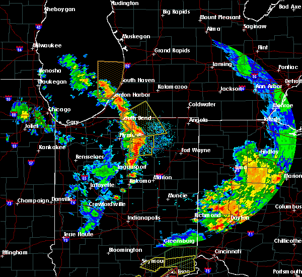 Radar Image for Severe Thunderstorms near Nappanee, IN at 7/20/2018 2:29 PM EDT