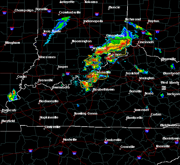 Radar Image for Severe Thunderstorms near Deputy, IN at 7/20/2018 2:35 PM EDT