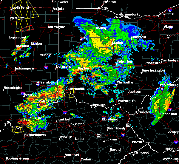Radar Image for Severe Thunderstorms near Versailles, IN at 7/20/2018 2:44 PM EDT
