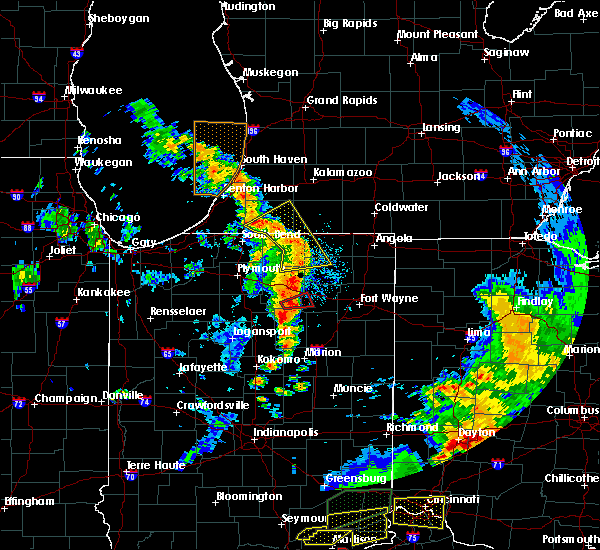 Radar Image for Severe Thunderstorms near Milford, IN at 7/20/2018 2:48 PM EDT