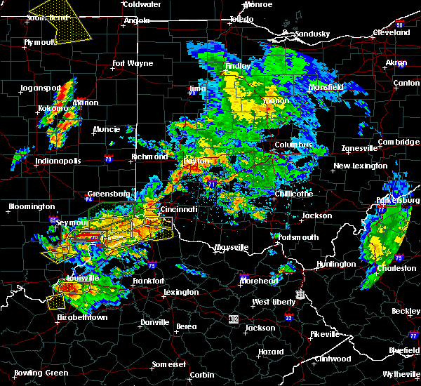 Radar Image for Severe Thunderstorms near Dayton, OH at 7/20/2018 3:01 PM EDT