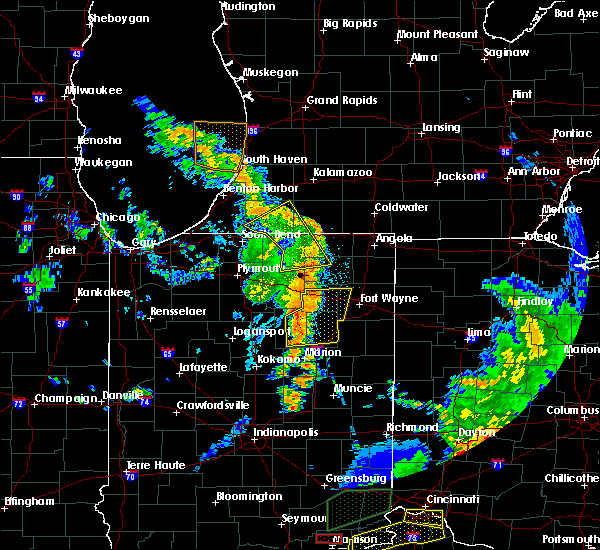 Radar Image for Severe Thunderstorms near Shipshewana, IN at 7/20/2018 3:09 PM EDT