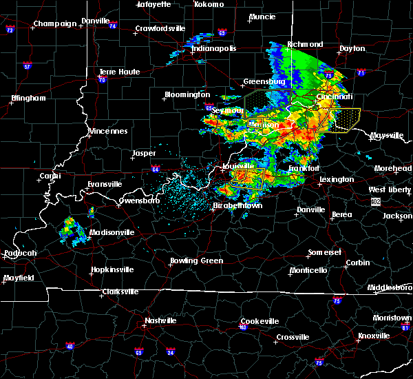 Radar Image for Severe Thunderstorms near Canaan, IN at 7/20/2018 3:28 PM EDT