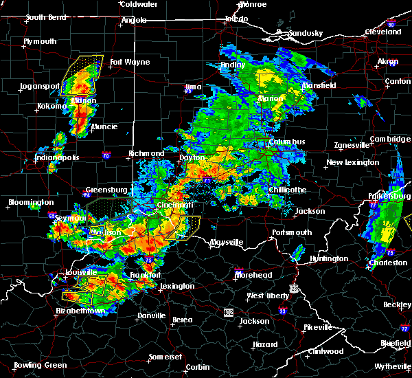 Radar Image for Severe Thunderstorms near Moscow, OH at 7/20/2018 3:31 PM EDT