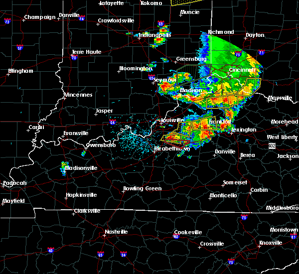 Radar Image for Severe Thunderstorms near Bardstown, KY at 7/20/2018 3:43 PM EDT