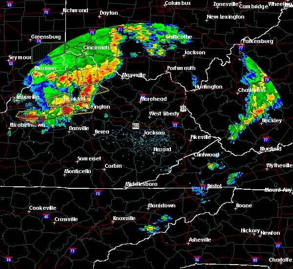 Radar Image for Severe Thunderstorms near Midway, KY at 7/20/2018 3:55 PM EDT