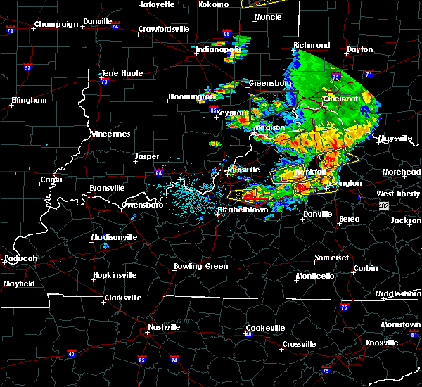 Radar Image for Severe Thunderstorms near Fairfield, KY at 7/20/2018 3:58 PM EDT
