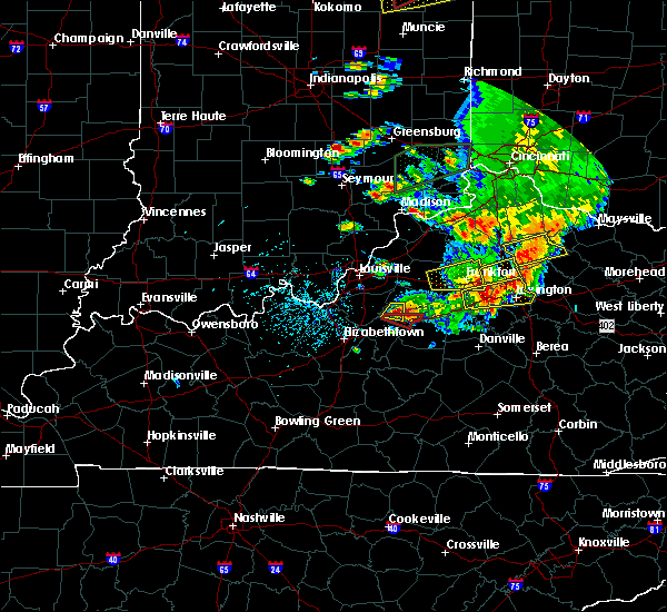 Radar Image for Severe Thunderstorms near Chaplin, KY at 7/20/2018 4:01 PM EDT