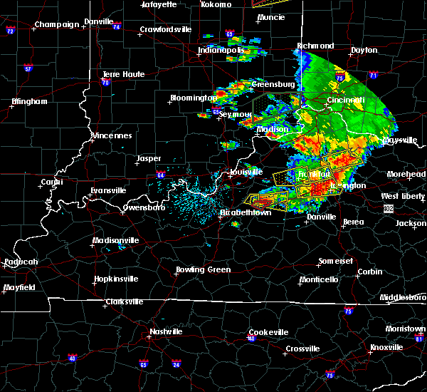 Radar Image for Severe Thunderstorms near Bardstown, KY at 7/20/2018 4:08 PM EDT