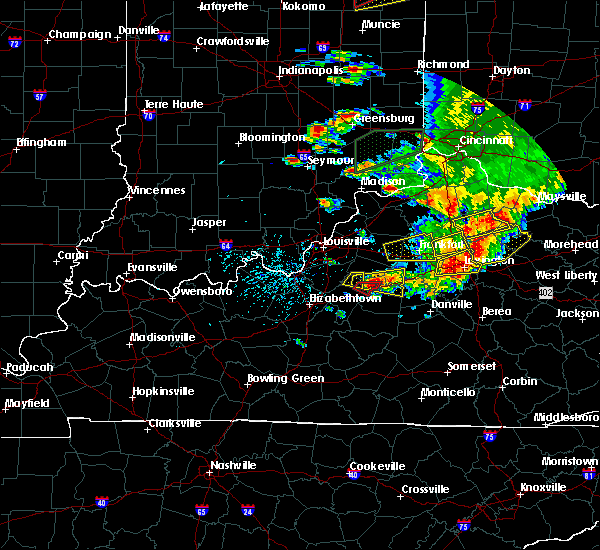 Radar Image for Severe Thunderstorms near Willisburg, KY at 7/20/2018 4:17 PM EDT