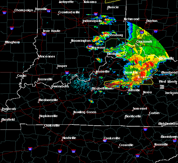 Radar Image for Severe Thunderstorms near Bardstown, KY at 7/20/2018 4:23 PM EDT