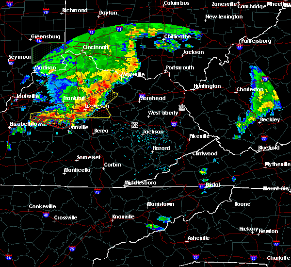 Radar Image for Severe Thunderstorms near Nicholasville, KY at 7/20/2018 4:23 PM EDT